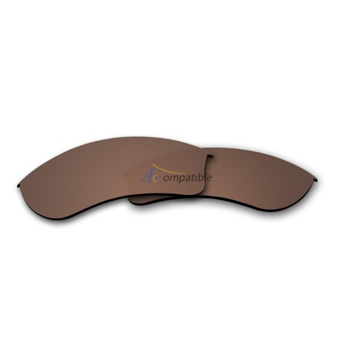 Replacement Polarized Lenses for Oakley Half Jacket 2.0 XL OO9154 (Brown)