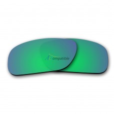 Replacement Polarized Lenses for Oakley Holbrook (Emerald Green Mirror)