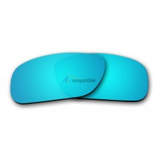 Replacement Polarized Lenses for Oakley Holbrook (Ice Blue Mirror)