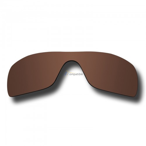 Replacement Polarized Lenses for Oakley Batwolf (Bronze Brown)