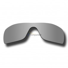 Replacement Polarized Lenses for Oakley Batwolf OO9101 (Silver Coating Mirror)
