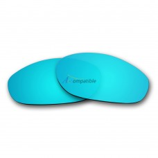 Replacement Polarized Lenses for Oakley Monster Dog (Ice Blue Mirror)