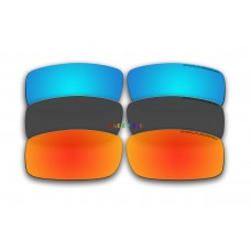 Polarized Replacement Sunglasses Lenses for Spy Optics Cooper 3 Pair Combo (Fire Red Mirror, Black,Ice Blue Mirror)