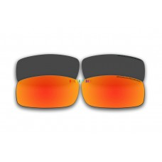 Polarized Replacement Sunglasses Lenses for Spy Optics Cooper 2 Pair Combo (Black,Fire Red Mirror)