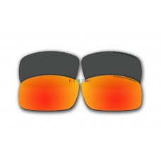 Polarized Replacement Sunglasses Lenses for Spy Optics Cooper XL 2 Pair Combo  (Black, Fire Red Mirror)